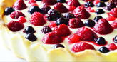 Blueberry fruits cream cheese tart recipe